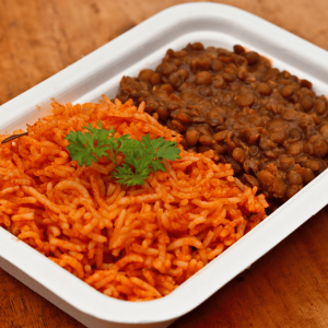 Lentil Stew with Jollof Rice Chefiesta, Meal Prep, Meal prep company, Meal prep near me, Catering company, private dining, Meal prep company UK