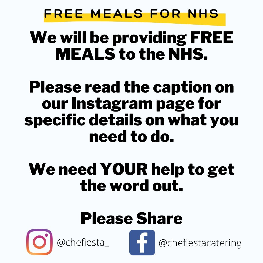nhs free meals