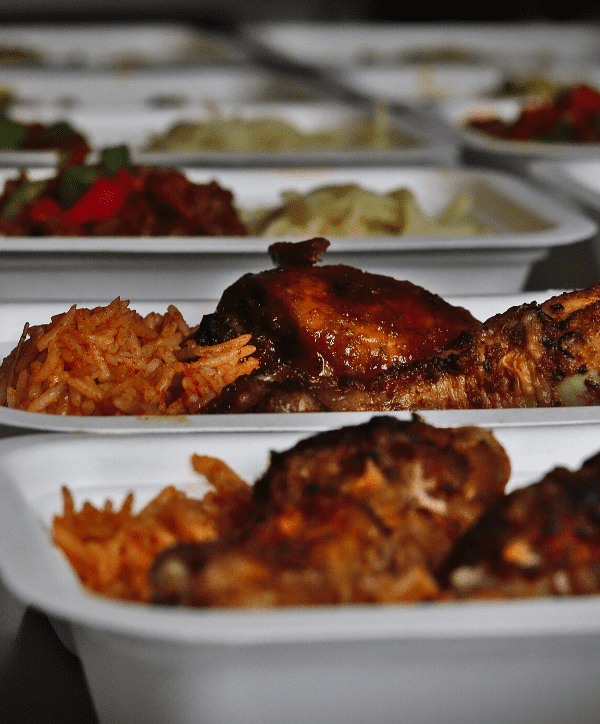 Jollof Rice and Chicken - Chefiesta, Meal Prep, Meal prep company, Meal prep near me, Catering company