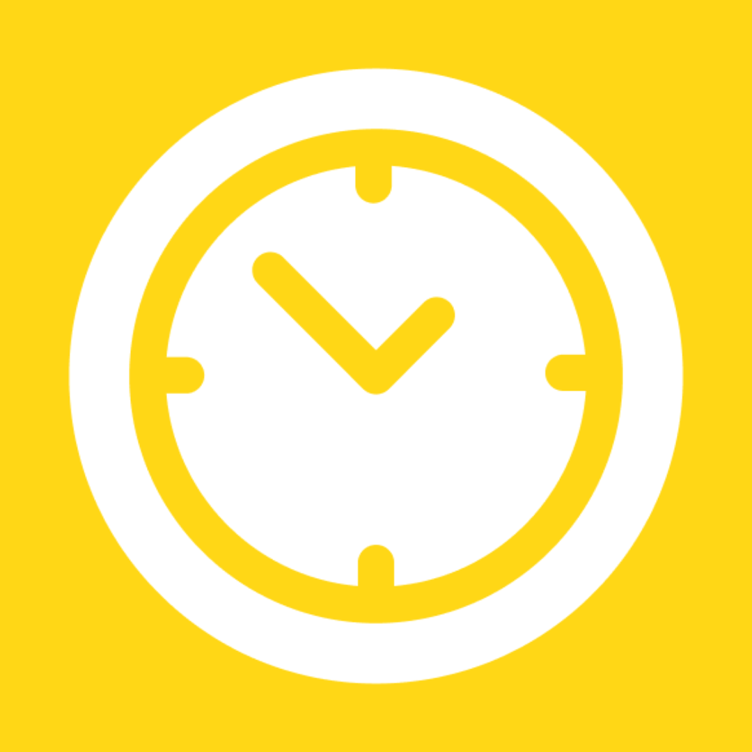 Save time - clock - chefiesta, meal prep, meal delivery
